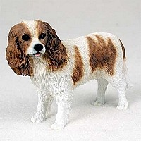 Cavalier King Charles Spaniel Brown & White Standard Figurine