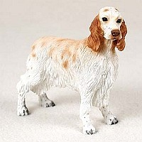 English Setter Belton Orange Standard Figurine