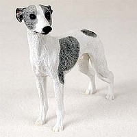 Whippet Gray White