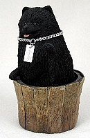 Pomeranian Black My Dog Figurine