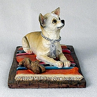 Chihuahua Tan & White My Dog Figurine