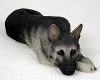 German Shepherd Black & Silver My Dog Figurine
