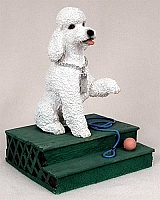 Poodle White w/Sport Cut My Dog Figurine