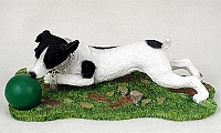 Jack Russell Terrier Black & White w/Smooth Coat w/Ball My Dog Figurine