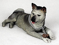 Akita Gray My Dog Figurine