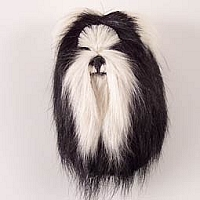 Shih Tzu Black & White Fur Magnet