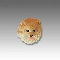 Pomeranian Red Tiny One head