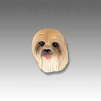 Lhasa Apso Brown Tiny One head