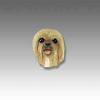 Lhasa Apso Blonde Tiny One head