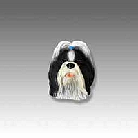 Shih Tzu Black & White Tiny One head