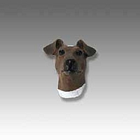 Fox Terrier Brown & White Tiny One head
