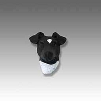 Fox Terrier Black & White Tiny One head