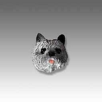 Cairn Terrier Gray Tiny One head
