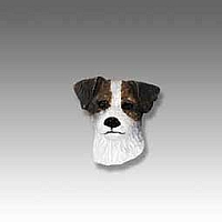 Jack Russell Terrier Brown & White w/Rough Coat Tiny One head