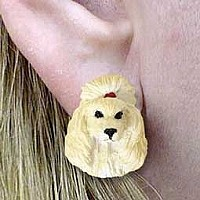 Poodle Apricot Earrings Post