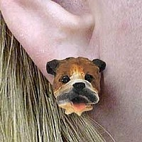 Bulldog Earrings Post
