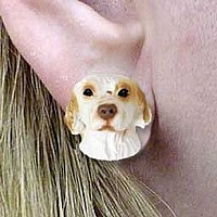 Clumber Spaniel Earrings Post