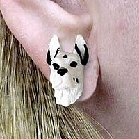 Great Dane Harlequin Earrings Post