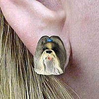 Shih Tzu Mixed Earrings Post