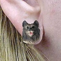 Keeshond Earrings Post