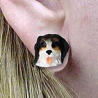 Bernese Mountain Dog Earrings Post