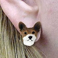 Basenji Earrings Post