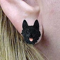 Schipperke Earrings Post
