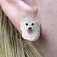 Kuvasz Earrings Post