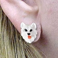 American Eskimo Earrings Post