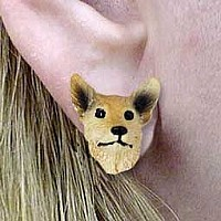 Australian Cattle Red Dog Earrings Post