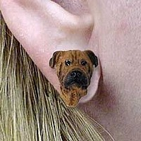 Bullmastiff Earrings Post