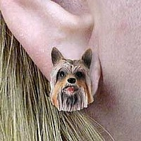Silky Terrier Earrings Post