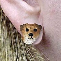 Border Terrier Earrings Post
