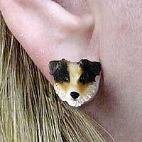 Australian Shepherd Brown Earrings Post