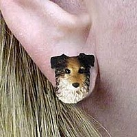 Australian Shepherd Blue Earrings Post