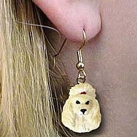 Poodle Apricot Earrings Hanging
