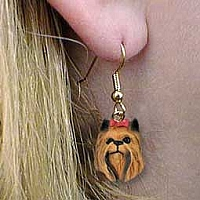 Yorkshire Terrier Earrings Hanging
