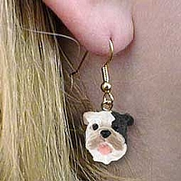 Bulldog Brindle Earrings Hanging