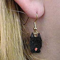 Bouvier des Flandres Earrings Hanging