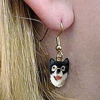 Alaskan Malamute Earrings Hanging
