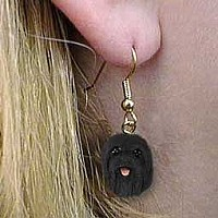 Lhasa Apso Black Earrings Hanging