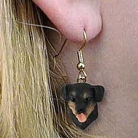 Rottweiler Earrings Hanging