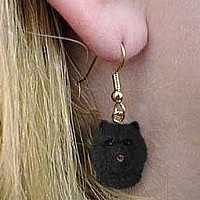 Chow Black Earrings Hanging