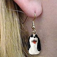 Springer Spaniel Liver & White Earrings Hanging