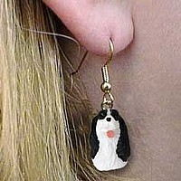 Springer Spaniel Black & White Earrings Hanging