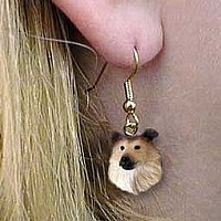 Collie Sable Earrings Hanging