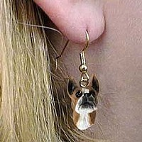Boxer Earrings Hanging