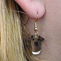 Fox Terrier Brown & White Earrings Hanging