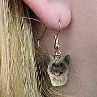 Akita Gray Earrings Hanging