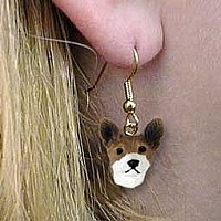 Basenji Earrings Hanging